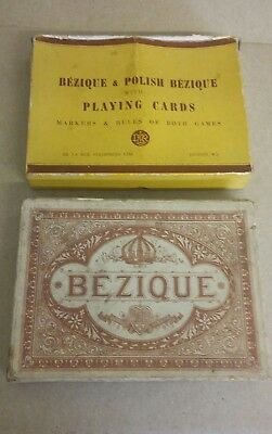 Vintage Bezique Playing Card X2 • 4.99£