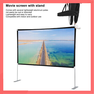 £48.99 • Buy 100  Portable Stand Projection Screen 16:9 HD White Matte For Cinema Home School