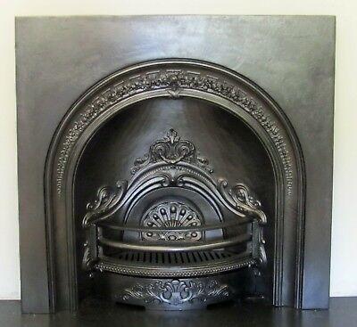 Victorian Style Cast Iron Arch Insert Fireplace 980mm Wide X 990mm High • 275£