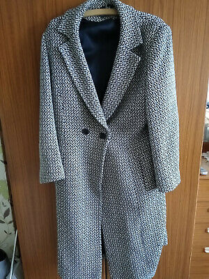 Alex & Co Dog Tooth Long Coat Lambs Wool 50 % • 19.99£