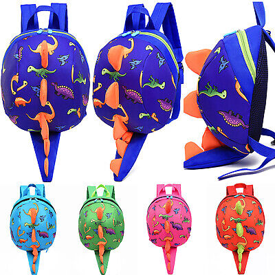 UK Toddler Kid Boys Girls Dinosaur Safety Harness Backpack School Bag With Reins • 11.39£