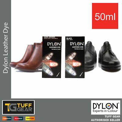 Dylon Leather Dye 50ml Shoes Boots Bag Belt Perfect Care Black Or Brown • 8.10£