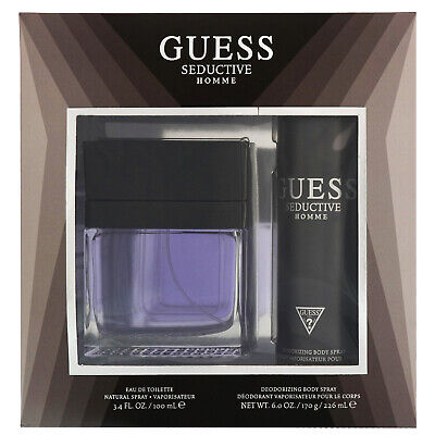 Guess Seductive Homme DAMAGED BOX EDT Spray 100ml Gift Set | Eau De Toilette • 19.95£