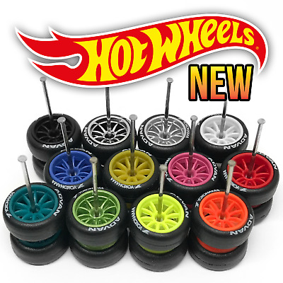 $ CDN7.49 • Buy Hot Wheels 10 SPOKE NEW Real Riders Wheels And Tires Set For 1/64 Scale Customs