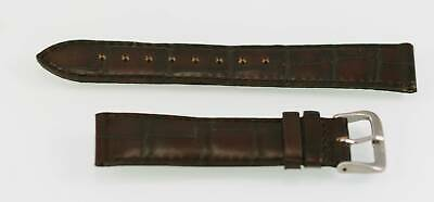 Fossil Unisex Chocolate Brown Leather Replacement Watch Band 18mm • 5.42£
