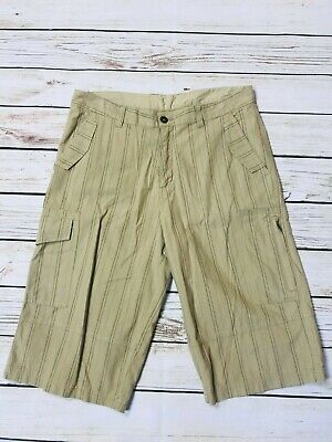 Mens Retro Airwalk Baggy Relaxed Fit Cargo Shorts Size Large W36 • 14.99£