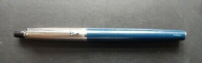 Parker Jotter Fibre Tip Stainless Steel And Navy • 5£