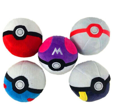Pokemon Pokeball Master Ball Great Ball Cosplay 12cm Plush Toy Doll UK Stock • 5.99£
