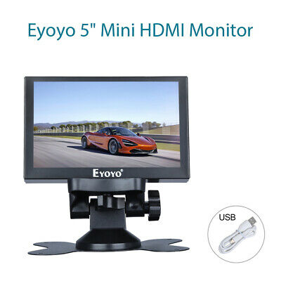 S501H 5  HDMI Monitor 800*480 With AV BNC VGA Ypbpr In For Security CCTV Display • 50.49£