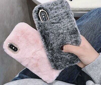 £4.50 • Buy Soft Warm Plush Fluffy Phone Case Cover Comfy Faux Fur For IPhone *UK SELLER*