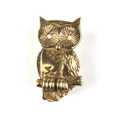 A Very Nice Ladies Fully Hallmarked 9ct Yellow Gold Ola Marie Gorie Owl Brooch • 56£