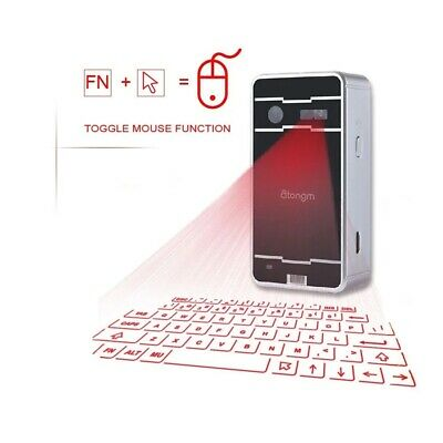 Digital Wireless Bluetooth Projector Keyboard + Mouse Function Fit Phone Iphone • 36.98£