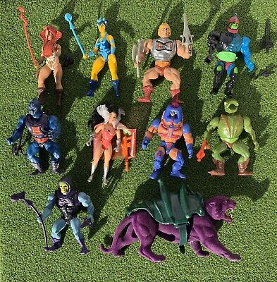 $399.99 • Buy Vintage He Man Masters Of The Universe MOTU Figures Lot And Weapons Mattel