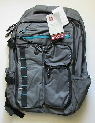 SWISS TECH Gray With Teal Trim Laptop BACKPACK New With Tags   • 7.77£