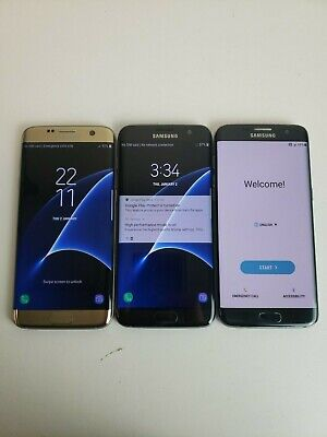 $ CDN192.99 • Buy LOT OF THREE!! Samsung Galaxy S7 Edge G935F/V/A - 32 GB - Unlocked Smartphone