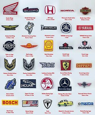 £2.19 • Buy Motor Brand Sports Racing Badges Collection Iron On Sew On Embroidered Patch