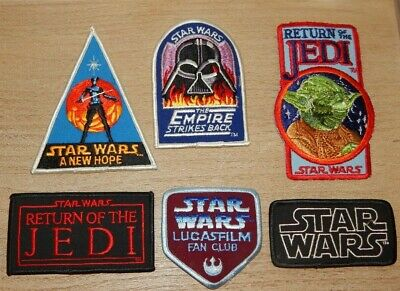 $ CDN44.28 • Buy Vintage Star Wars Lucasfilm Fan Club Star Wars Embroidered Patches Lot Of 6