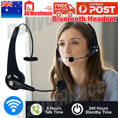 AU24.95 • Buy Bluetooth Wireless Headphones Over Head With Mic Business Driver Headset AUS