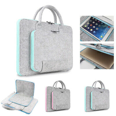 Wool Felt Laptop Bags 11 13 15 17inch Tablet Mouse Bag Briefcase For Laptop-PC • 13.88£