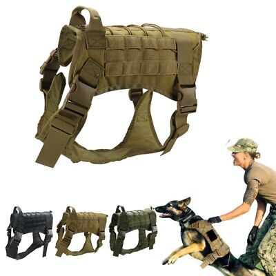 AU33.88 • Buy Tactical Large Dog Training Vest Harness Military K9 Water Resistant Harness