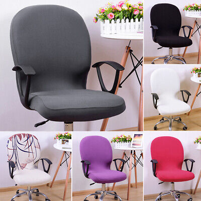 AU12.86 • Buy Chair Cover Office Computer Spandex Stretch Swivel Seat Rotate Swivel Chair