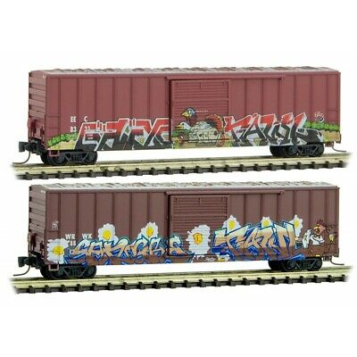 AU81.53 • Buy Z Scale - MICRO-TRAINS LINE 510 44 245 BIRDS OF A FEATHER Weathered 2 Car Pack