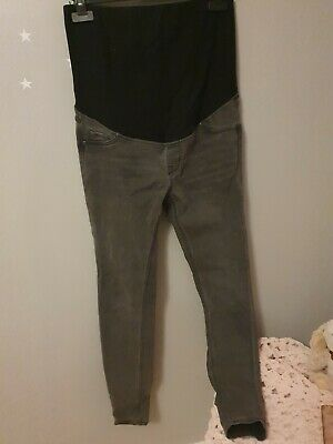 Size 12 Over The Bump Maternity Skinny Jeans • 3£