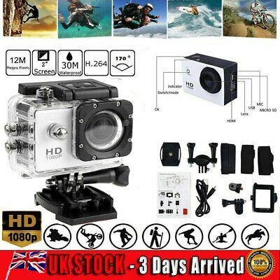 Action Camera 4K 1080P Camcorder Waterproof DV Sports Cam Go Pro Underwater Play • 19.99£
