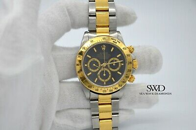 $ CDN23859.34 • Buy Rolex Daytona 16523 Stainless Steel Yellow Gold Black Zenith 1997 Box&Papers