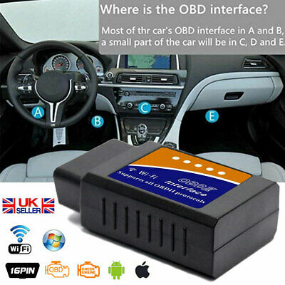 AU16.99 • Buy ELM327 ODB2 OBDII Car WiFi Auto Diagnostic Scanner Code Reader For IOS/Android .
