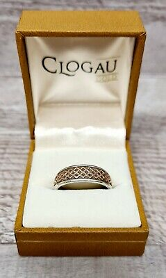 Clogau 925 Silver And Rose Gold Ring Size T • 65£