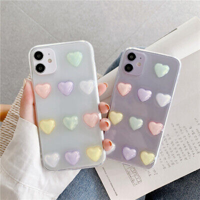 For IPhone 7 8 Plus XR X XS 11 12 Pro MAX Socket Holder Love Phone Case Cover UK • 4.12£