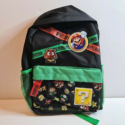 Super Mario Backpack School Bag New With Tags Back Pack  • 16.99£