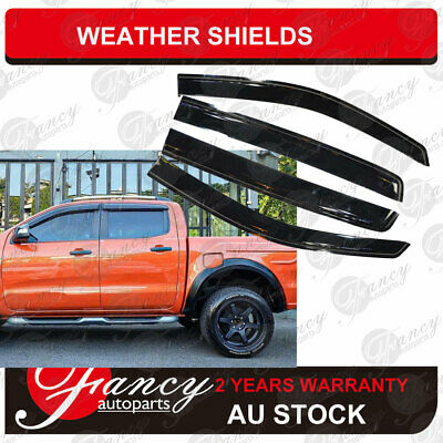 AU46.85 • Buy Window Visors Weather Shields For Ford Ranger Double Cab XL XLT 2012 - 2020