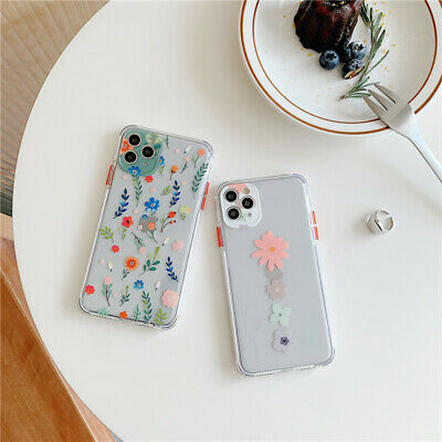 Case For IPhone 7 8 Plus XR 11 12 Pro Max X XS SE Shockproof Flower Phone Cover • 4.11£