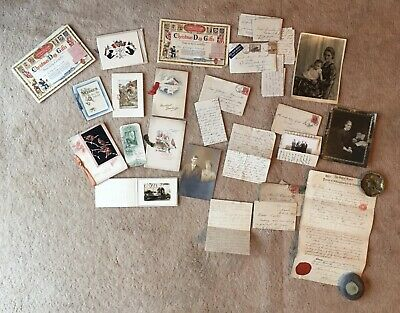 Inter WW1 & WW2 Letters Correspondence Greetings Christmas Cards From Canada • 10.50£