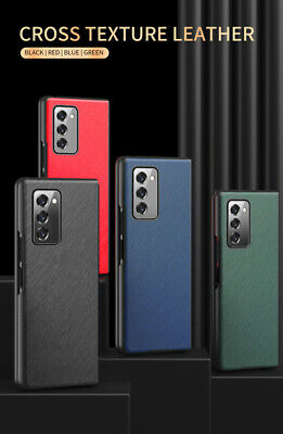AU16.59 • Buy For Samsung Galaxy Z Fold 2 1 5G Back Case Texture Leather Shockproof Back Cover