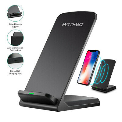 AU12.99 • Buy 15W Desktop Qi Wireless Charger Dock Stand For IPhone 12 11 XS Samsung S20 S10