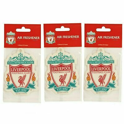 3 LIVERPOOL FC Car Air Fresheners -Licensed Official Merchandise  Free Post Gift • 4.99£