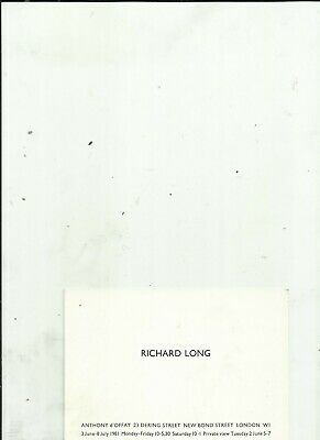 £4.99 • Buy RICHARD LONG Exhibition Card ANTHONY D'OFFAY GALLERY 1981