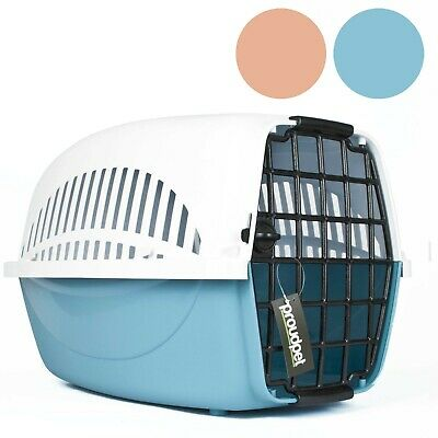 Hard PET CARRIER Dog Cat Animal Travel Crate Portable Kennel Cage Air Box • 16.97£