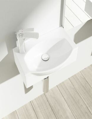Durovin Bathroom Cloakroom Wall Hung Counter Top White Ceramic Basin Sink 40cm • 35.99£