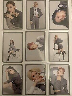 Official Kpop Twice Eyes Wide Open Preorder Photocard Set • 8£