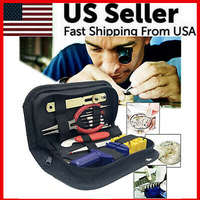 $ CDN15.68 • Buy 16PCS WATCH Repair Back Opener Kit Tools Band Pin Strap Link Remover Remover New