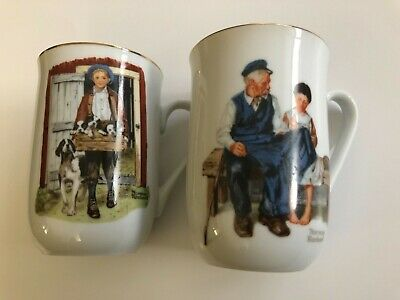 $ CDN7.50 • Buy Norman Rockwell Museum Mug Cup Puppy Love Certified Authentic &Lighthouse Keeper