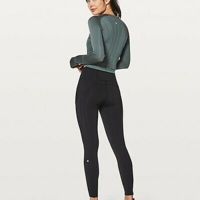 $ CDN79.11 • Buy Lululemon Fast Free 7/8 Leggings Size 8 - *Non-Reflective Nulux 25  Black