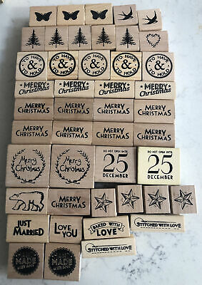 East Of India Stamps Job Lot Wedding Christmas Love Handmade 45 Quantity New • 1.20£