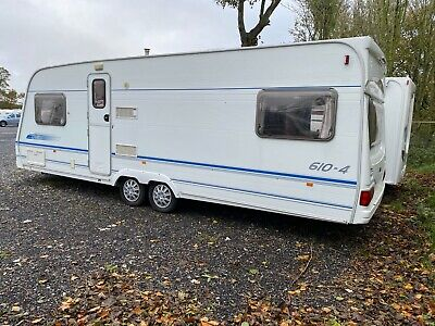 Lunar Delta 610-4 Four Berth Touring Caravan 2001 With Oyster Satellite Dish  • 5,595£