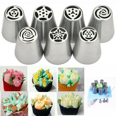 15pcs/set Russian Leaf Flower Icing Piping Nozzle Tip Cake Topper Baking Toolv • 6.99£