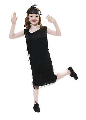 Child Black Flapper 1920s Fancy Dress Christmas Show Kids BNIP 4, 5, 6 Years • 1.99£